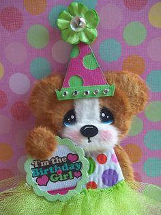 Sweet little birthday tear bear . http://www.ebay.com/itm/Tear-Bear-Birthday-girl-pre-made-scrapbook-embellishment-card-making-MOMZ-/261051281582?pt=LH_DefaultDomain_0=item3cc7de70ae#ht_2315wt_1185