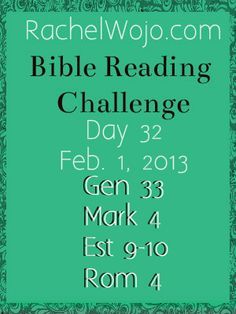 Day 32 Bible Reading Challenge