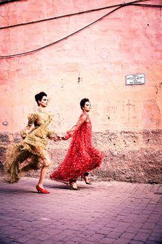 Shanina Shaik Harper's Bazaar Arabia Ellen von Unwerth Hind Sahli Hanaa Ben Abdesslem