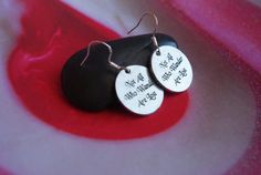 Not All Who Wander Are Lost Earrings by dezziesdazzles on Etsy, $5.99