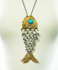 Vintage Statement Necklace  FISH SKELETON  by storybookvintage, $165.00  .... love this