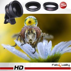 No1 BEST SELLER Professional HD Camera Lens Kit with BONUS CASE 0.45X Super Wide Angle Lens + 12.5X Macro Lens, Clip-On Cell Phone Lens for iPhone 6s / 6 Plus / 5s, Samsung Galaxy, All Smartphones: Electronics