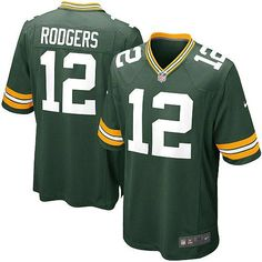 New Men s Green Nike Game Green Bay Packers  12 Aaron Rodgers Team Color  NFL Jersey  c861b02dd