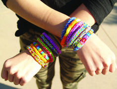 Make you and your best friend matching bracelets using Clover's French Knitter.