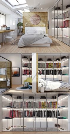 10 Good-Looking Examples Of Bedrooms With Attached Wardrobes | Discover more: http://masterbedroomideas.eu/