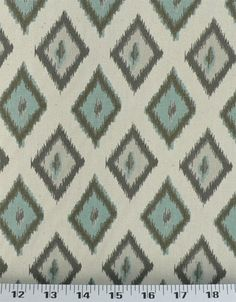 Carnival Village Blue/Natural | Online Discount Drapery Fabrics and Upholstery Fabric Superstore!