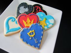 Kingdom Hearts Inspired Cookies with Royal Icing