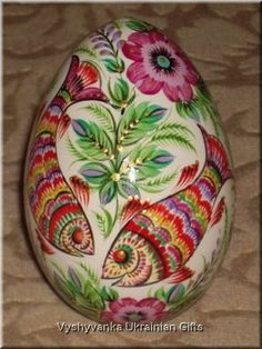 Ukrainian Petrykivka Pysanka Real GOOSE Easter Egg Art ebay