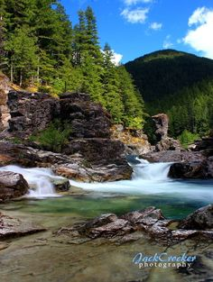 Three Pools, Santiam National Forest. East of Stayton, Oregon