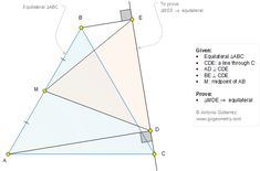 Geometry Problem 1283: Two Equilateral Triangle, Perpendicular, Midpoint