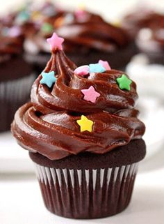 Triple Chocolate Cupcakes by SugaryWinzy