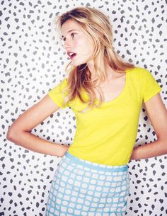 It's gonna be all bright! Neon/brights trend, and LOVING this new Citron t-shirt from @Boden