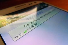 Lo que realmente significa la palomita y 2ble. palomita de Whatsapp.