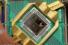Google has revealed that its controversial quantum computer really does work. The search giant claims it has discovered a quantum algorithm that solves problems 100 million times faster than conventional computers. Pictured is the chip created as part of the joint Google-Nasa collaboration
