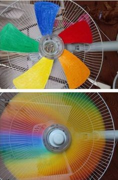 DIY Rainbow Fan …