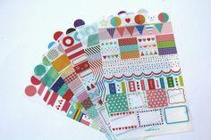Scrapbooking stickers - Deco sticker set - 6 sheets