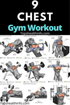 These Chest gym workouts are very helpfull to make chest. Chest Workout For Men, Chest Workout Routine, Home Workout Men, Gym Workouts For Men, Chest Workouts, Fun Workouts, Workout Women, Abs And Cardio Workout, Gym Workout Chart