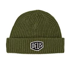 Deus Ex Machina Beanies - Deus Ex Machina Shield Beanie - Olive