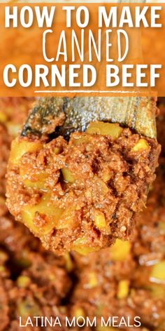 Canned corned beef is a cheap recipe to make while stuck at home! Canned Corned Beef Recipe, Corned Beef Recipes, Corned Beef Hash, Cuban Recipes, Ground Beef Recipes, Mince Recipes, Spanish Recipes, Vegan Breakfast Recipes, Vegan Recipes Easy