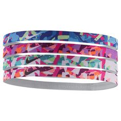 Girls' Nike 4-Pack Headbands - NJNA7 971 | Finish Line Nike Headbands, Athletic Headbands, Sports Headbands, Adidas Superstar, Cute Vans, Nike Under Armour, Ball Hairstyles, Cute Workout Outfits, Only Fashion