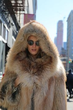 now this is a fur coat for a cold day!