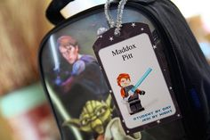 Free #Printable Star Wars Lego Tags for Back to #School!