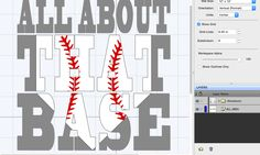 """One of the girls from the SCAL FB groups wanted to know how to create the Knockout Effect using more than one image. I prepared this tutorial for her. Using the Type Tool – Type out the text """"ALL ABOUT."""" I'm using the BlackoakSTD font. Resize it accordingly.  Type out the text """"THAT BASE"""" …"""