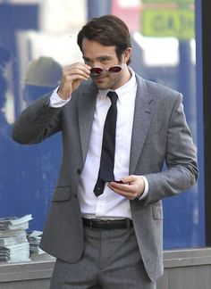 Daredevil, charlie cox, matt murdock, netflix, marvel, tournage, photos, série, series, images