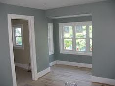 piedmont gray benjamin moore - looks like a great master bedroom color. looks bluer in some pics/sage in others Guest Bedroom Colors, Bedroom Paint Colors, Interior Paint Colors, Paint Colors For Home, Bathroom Colors, Wall Colors, Bedroom Ideas, Paint Colours, Guest Rooms