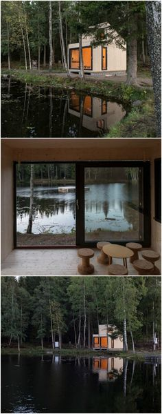 If You're Looking for Simplicity, This Norwegian Tiny House is For You! If you find yourself in Norway, you should visit Isdammen and find this simple tiny house that sits by a lake in the woods. It's known as Woody15 and is made from 29 cross laminate timber pieces and is only 183 square feet.
