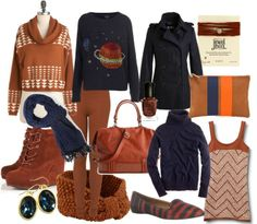 Fall Color Combo: Rust & Navy!
