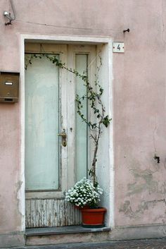 This picture is great overall. The door may seem dated and forgotten, but that's what make it most beautiful. Sometimes it just works!