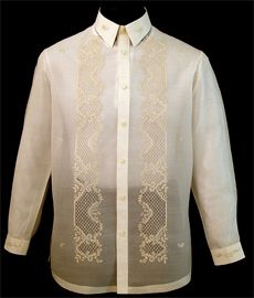 Classic Pina-Jusi Fabric Barong Tagalog - Barongs R us - Barongs R us Barong Tagalog, Filipiniana Dress, Line Shopping, Made Clothing, White Shirts, Couture Fashion, Your Style, Shirt Dress, Mens Fashion