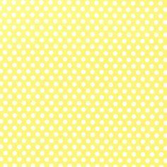 Lemon Drop Yellow Polka Dot Fabric By The Yard