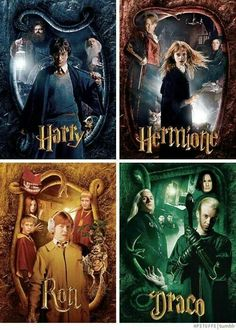 Harry Potter, Hermione Granger, Ron Weasley and Draco Malfoy in The Chamber of Secrets Harry Potter Hermione, Harry Potter Tumblr, Magia Harry Potter, Estilo Harry Potter, Arte Do Harry Potter, Harry Potter Puns, Theme Harry Potter, Harry Potter Pictures, Harry Potter Characters