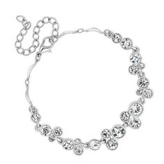 Jon Richard Crystal bubble bracelet- at Debenhams.com