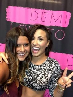 Demi at backstage with fans today