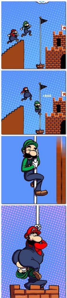 Gettin real tired of your shit Mario