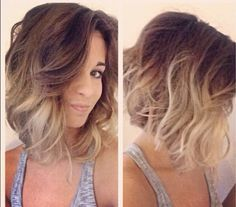 short brown hair ombre