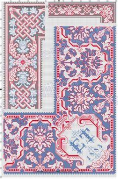 Gallery.ru / Фото #11 - Kreuzstich-Muster Fur Leinenstickerei - gabbach Embroidery Patterns Free, Lace Patterns, Knitting Patterns Free, Free Knitting, Free Crochet, Free Pattern, Crochet Patterns, Cross Stitch Borders, Book Crafts