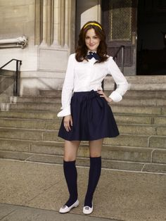 "Maybe I could dress up as Blair from ""Gossip Girl"" for Halloween at school. It is a book..."