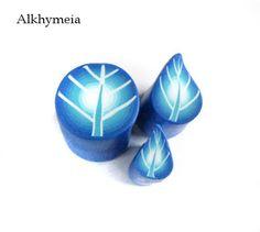 Tutorial Foglie Blu, an old, old, old polymer clay tutorial by Alkhymeia