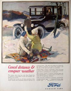 1925 Ford Closed Car Ad ~ Haddon Sundblom