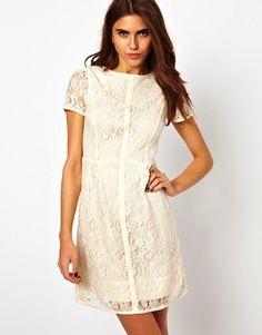 Asos Lace Shift Dress http://lexwhatwear.com/summers-shift-dress/