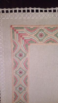 Cute Embroidery, Embroidery Motifs, Floral Embroidery, Embroidery Designs, Bargello Needlepoint, Floral Tablecloth, Canvas Designs, Straight Stitch, Weaving Art
