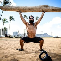 My brother, Ian, the head coach at Outside the Box Bootcamps, part of the CF Oahu family. Pretty sweet gig CrossFitting on Hawaiian beaches all day.