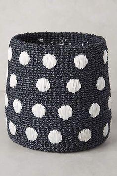 Dispersed Dots Basket - anthropologie.com