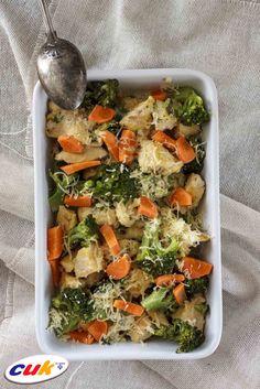 Receta de Pollo CUK cremoso con brócoli y cheedar