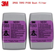 18.89$  Buy now - 3M 7093 P100 respirator mask filters Genuine mask filter PM0.3 particulates Welding dust glass fiber Protective filters   #buymethat