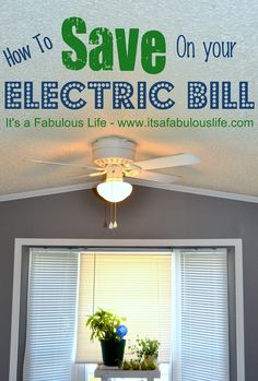 How to Save on Your Electric Bill - LOTS of ways!  Some I had never heard of or would never have thought of!  SUPER handy - MUST read!